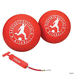 GoSports Official Kickball with Pump (2 Pack), 10