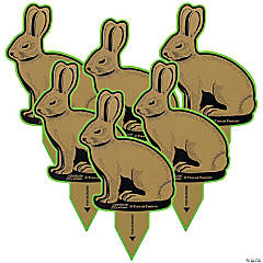 GoSports Outdoors Rabbit Terrain Targets, Reactive Shooting Range Targets with Neon Green VeriShot Confirmation, Great for Small Calibers