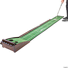 GoSports Pure Putt Golf 9' Putting Green Ramp - Premium Wood Training Aid for Home & Office Putting Practice, Includes 9' Putting Green and 4 Golf Balls