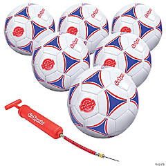 GoSports Size 5 Premier Soccer Ball with Premium Pump - 6 Pack
