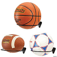 GoSports Wall Mounted Ball Stand Holder - 3 Pack