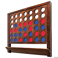 GoSports Wall Mounted Giant 4 in a Row Game - Jumbo 4 Connect Family Fun with Coins