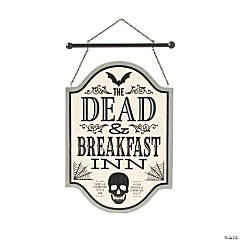 Gothic Dead & Breakfast Sign Halloween Decoration