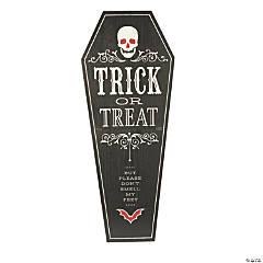 Gothic Halloween Coffin Sign