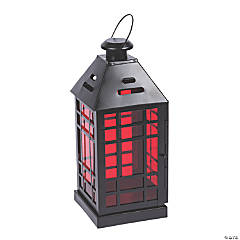 Gothic Halloween Lantern with Ruby Glass