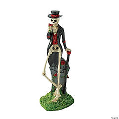 Gothic Tabletop Gentleman Skeleton Halloween Decoration