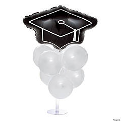 Graduation Balloon Centerpiece - White
