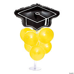 Graduation Balloon Centerpiece - Yellow