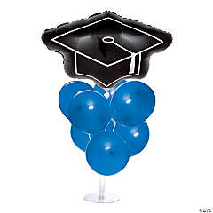 Graduation Balloon Centerpieces - Blue