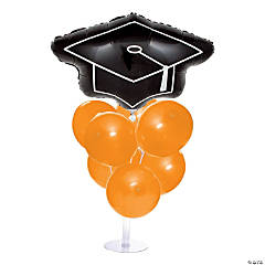 Graduation Balloon Centerpieces - Orange