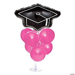Graduation Balloon Centerpieces - Pink