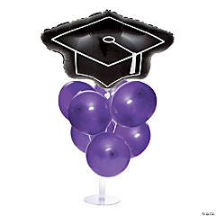 Graduation Balloon Centerpieces - Purple