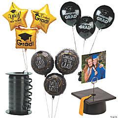 Graduation Black & Gold Balloon Kit