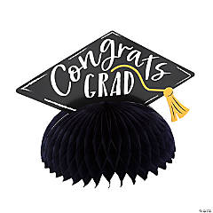 Graduation Mortarboard Honeycomb Centerpieces
