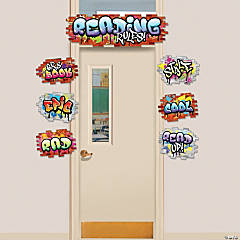 Graffiti Reading Rules Door Decorating Kit