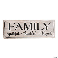 Grateful for Family Sign