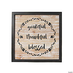 Grateful Thankful Blessed Wall Sign