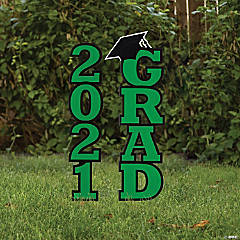 Green 2021 Grad Yard Signs