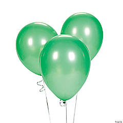 "Green 9"" Latex Balloons"