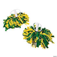 Green & Gold Spirit Show Pom-Poms