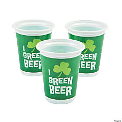 Green Beer Cups