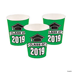 Green Class of 2019 Cups