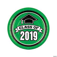 Green Class of 2019 Dinner Plates
