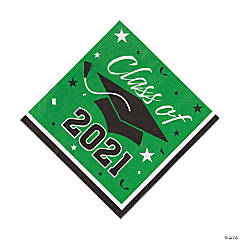 Green Class of 2021 Luncheon Napkins