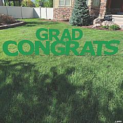 Green Congrats Grad Letters Yard Sign