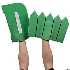 Green D Fence Foam Hands