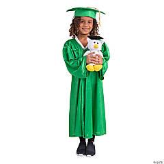 Green Elementary Graduation Robe & Stuffed Owl Kit