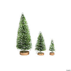 Green Frosted Sisal Tree Assortment