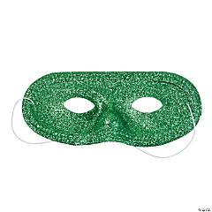 Green Glitter Masks