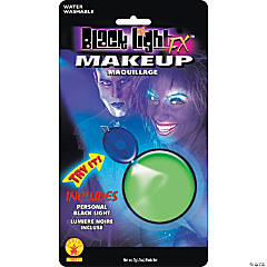 Green Glow Blacklight Makeup