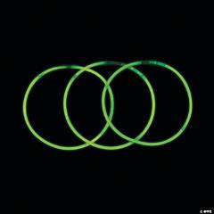 Green Glow Plastic Necklaces