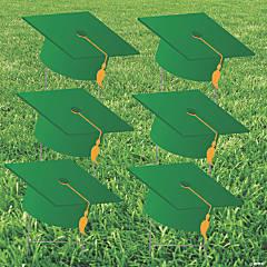 Green Grad Cap Yard Signs