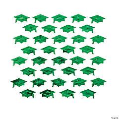Green Graduation Cap Confetti