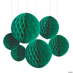 Green Hanging Honeycomb Decorations
