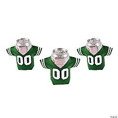 Green Jersey Shaped Can Coolers