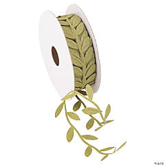 Green Leaf-Shaped Ribbon - 1