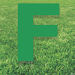 Green Letter F Yard Sign