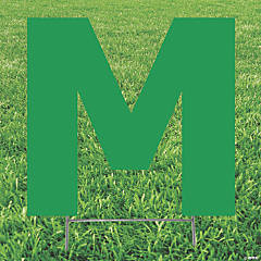 Green Letter M Yard Sign