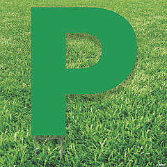 Green Letter P Yard Sign