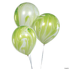 Green Marble Latex Balloons