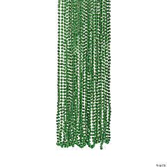 Green Metallic Beaded Necklaces