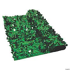 Green Metallic Floral Sheeting