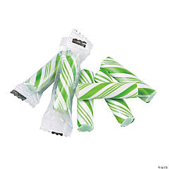 Green Mini Hard Candy Sticks