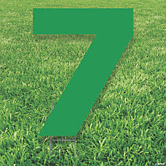 Green Number 7 Yard Sign