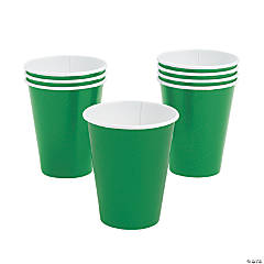 Green Paper Cups - 24 Ct.