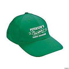 Green Personalized Family Tree Baseball Caps